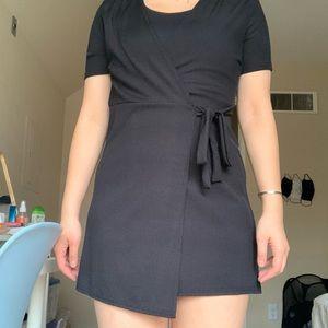 Nasty Gal Black Wrap Dress